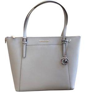 Michael Kors Ciara top sip Handbag Ash Gray